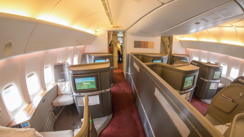 Cathay Pacific CX-777 First Class Cabin
