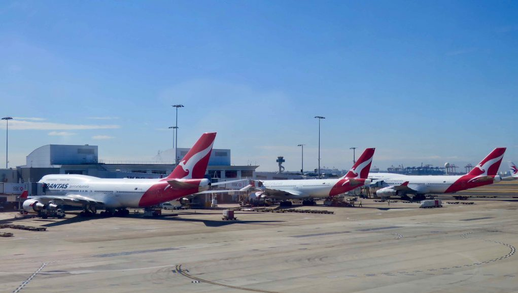 Qantas planes on tarmac