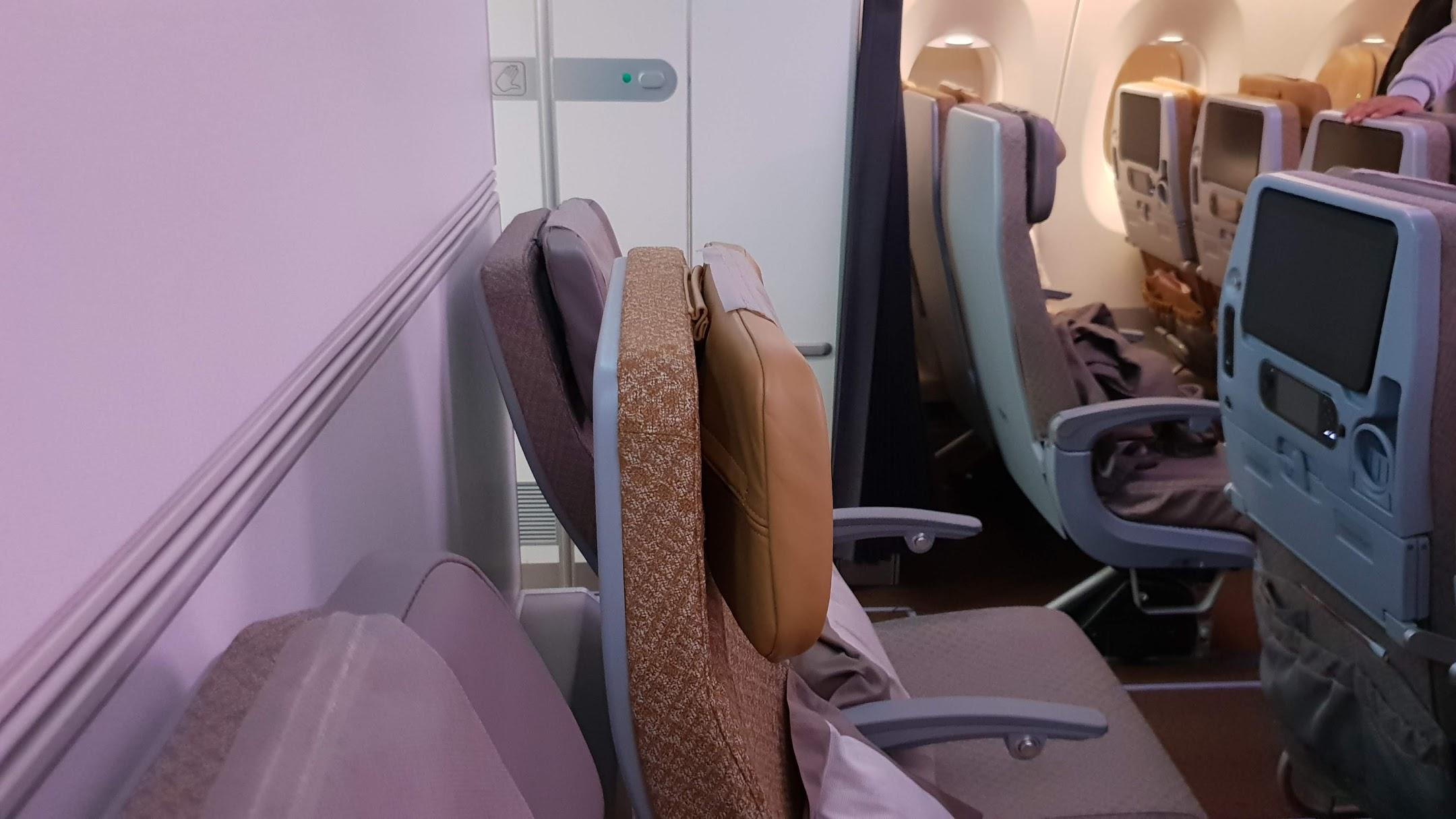 Singapore Airlines A350 Economy last row