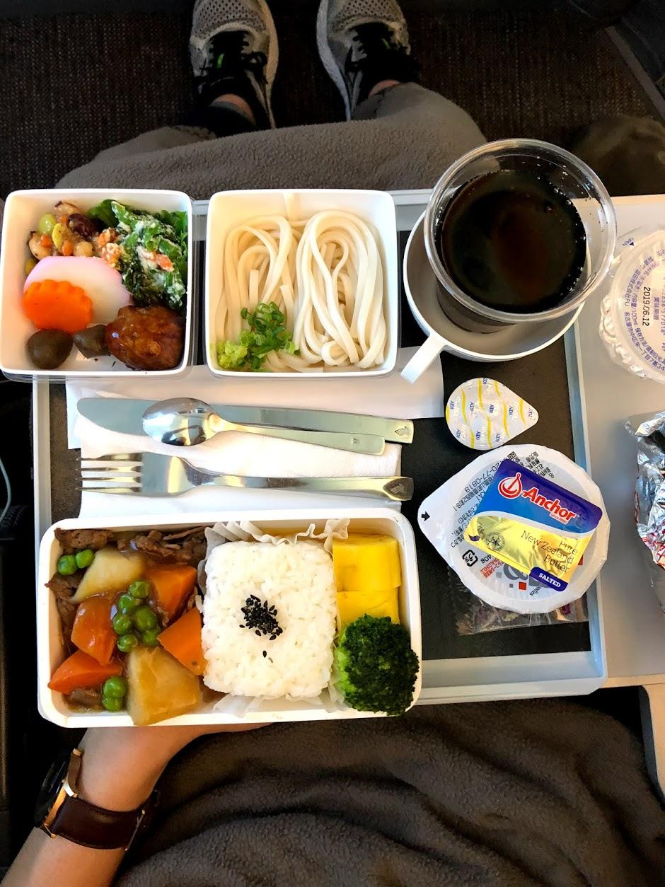 Singapore Airlines A350 Economy meal