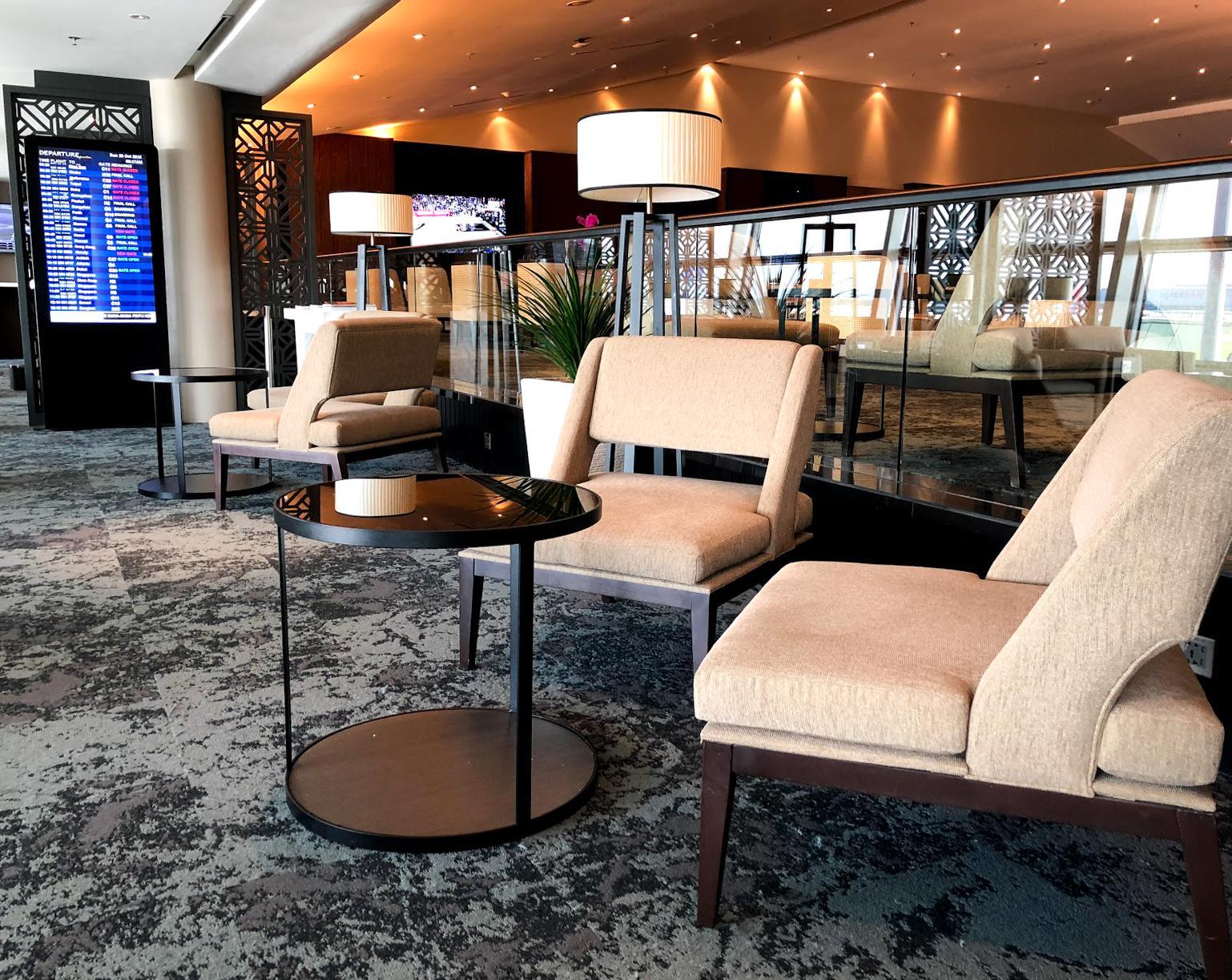 Malaysia Airlines Satellite Golden Lounge Kuala Lumpur seating area