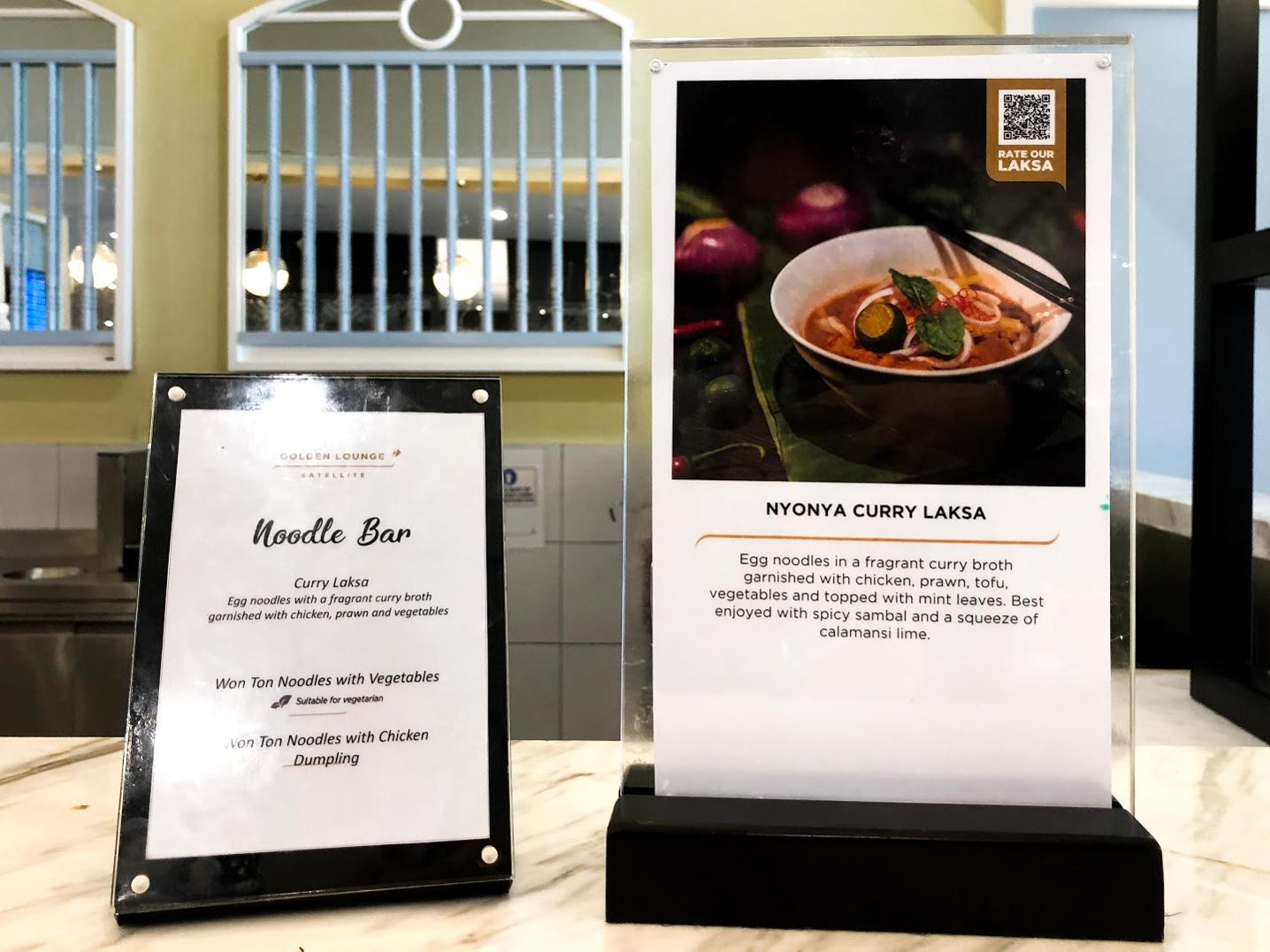 Malaysia Airlines Satellite Golden Lounge Kuala Lumpur noodle bar