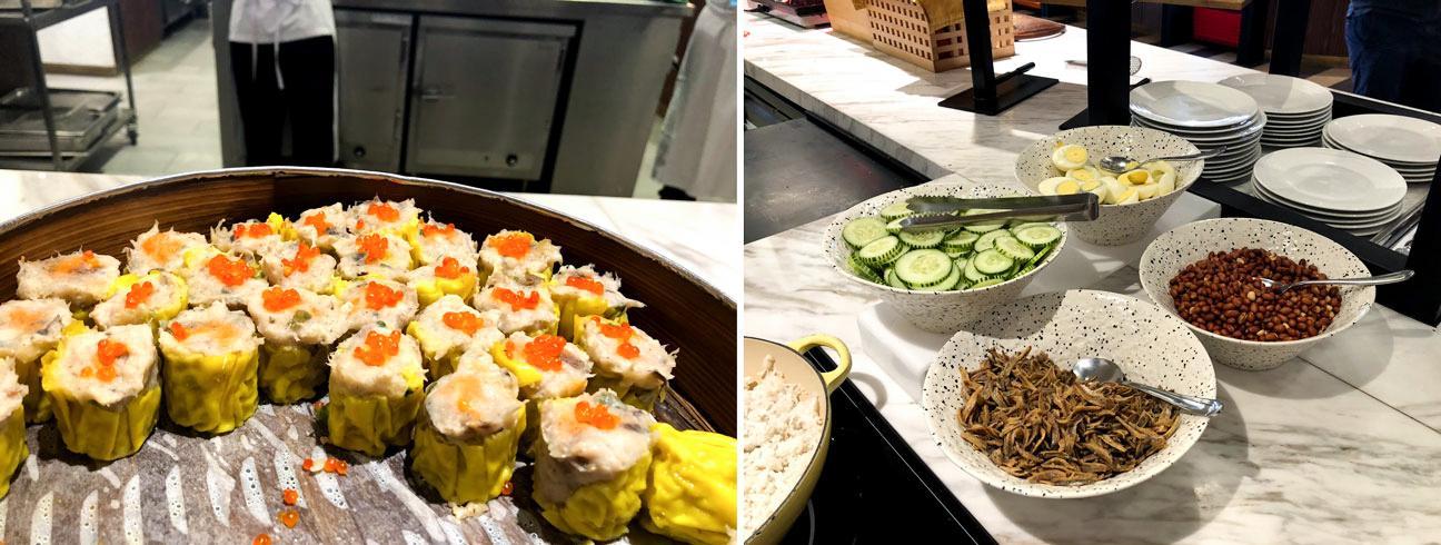 Malaysia Airlines Satellite Golden Lounge Kuala Lumpur food