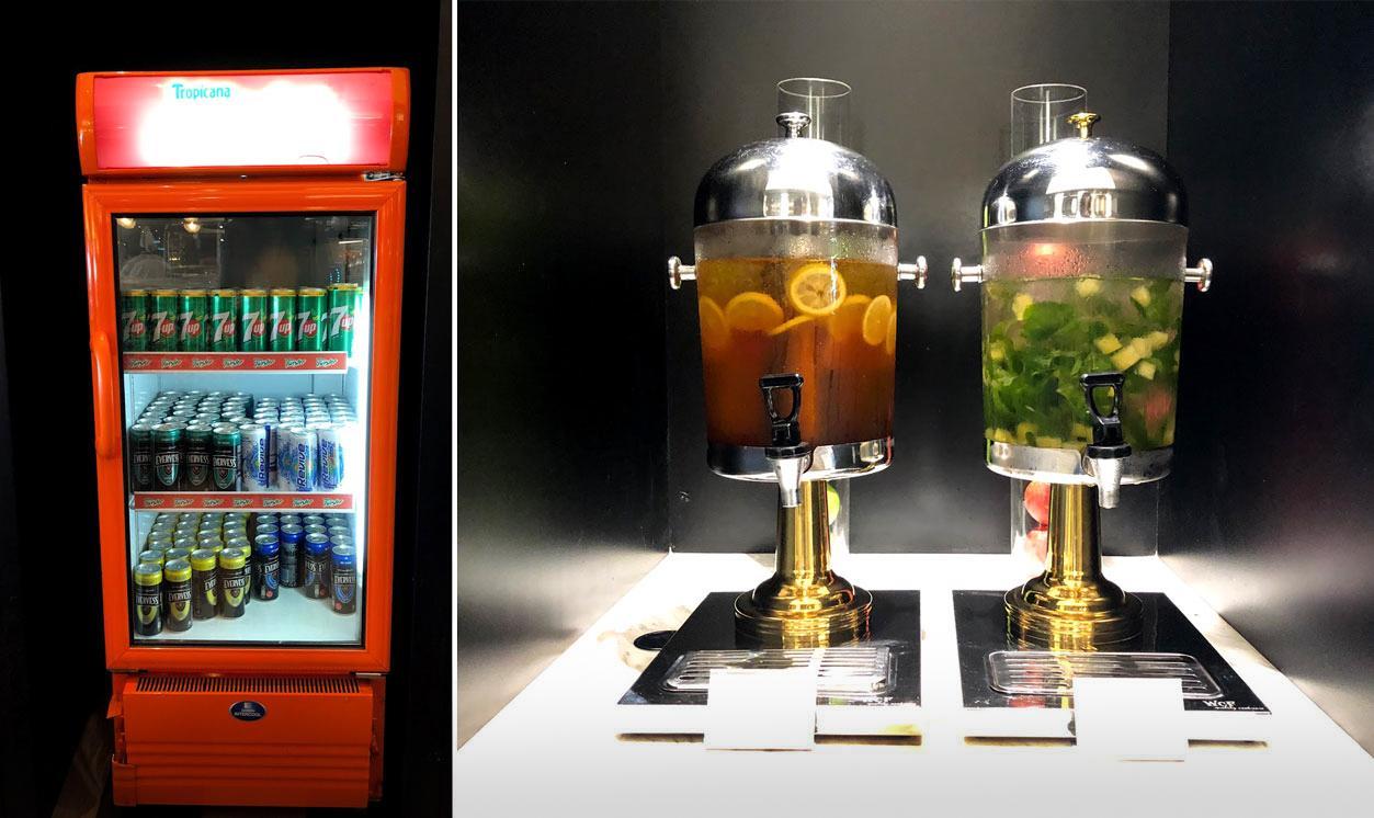 Malaysia Airlines Satellite Golden Lounge Kuala Lumpur drinks