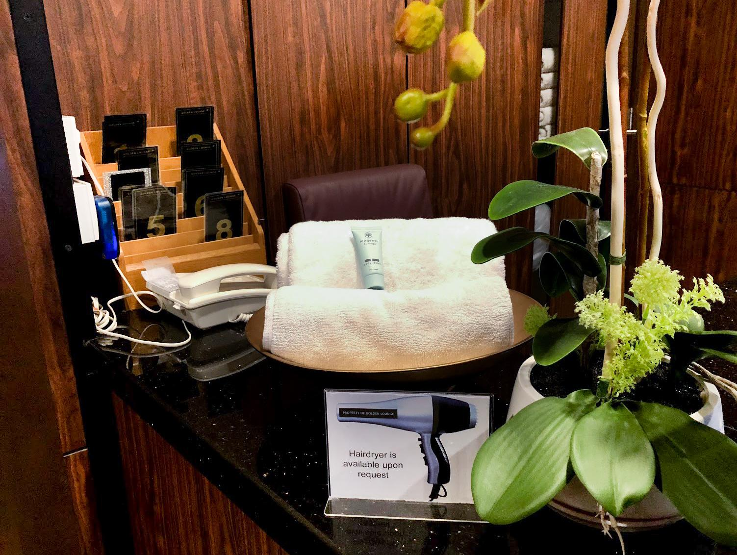 Malaysia Airlines Satellite Golden Lounge Kuala Lumpur bathroom amenities