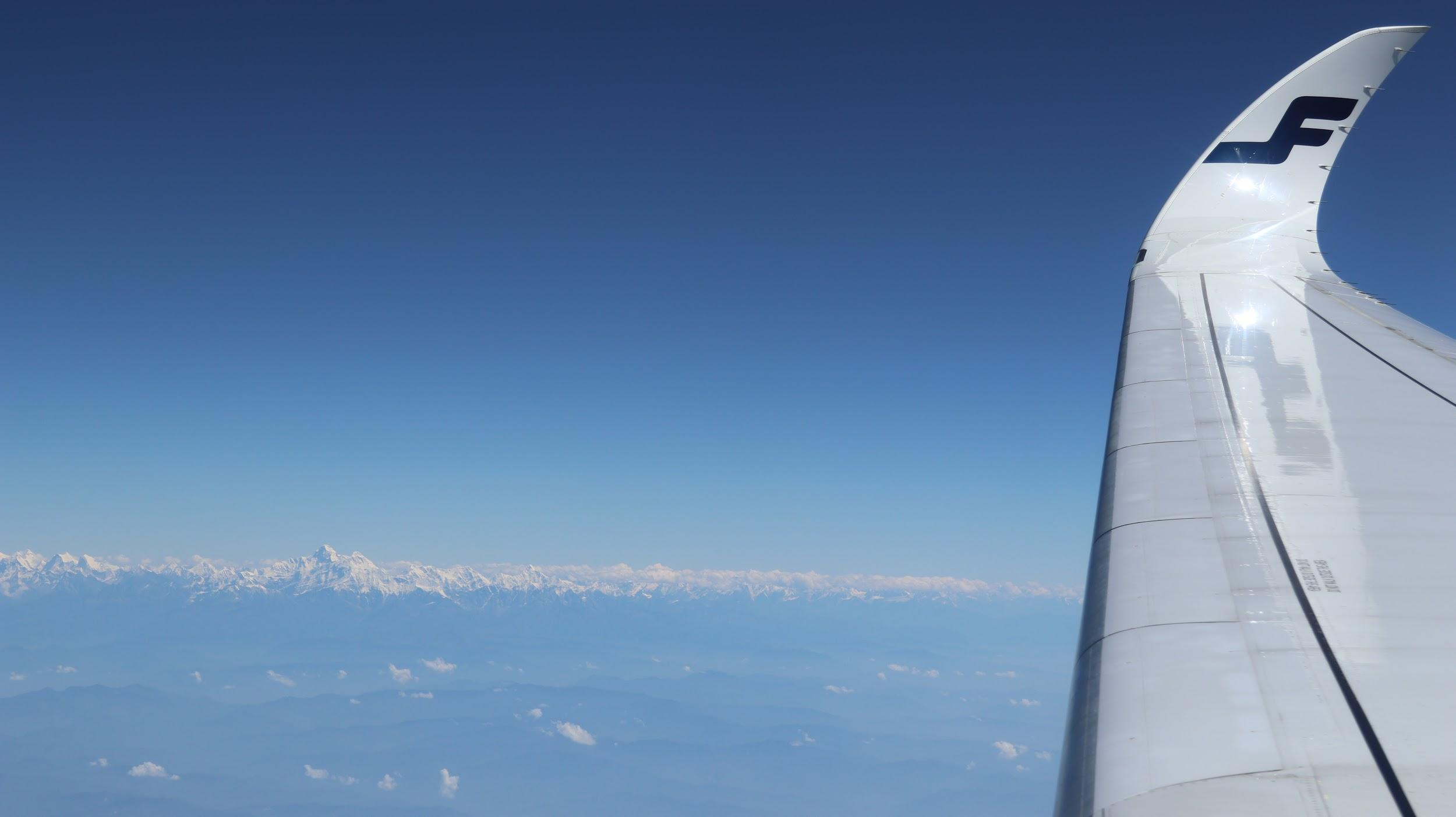 View of Mt. Everest from Finnair flight