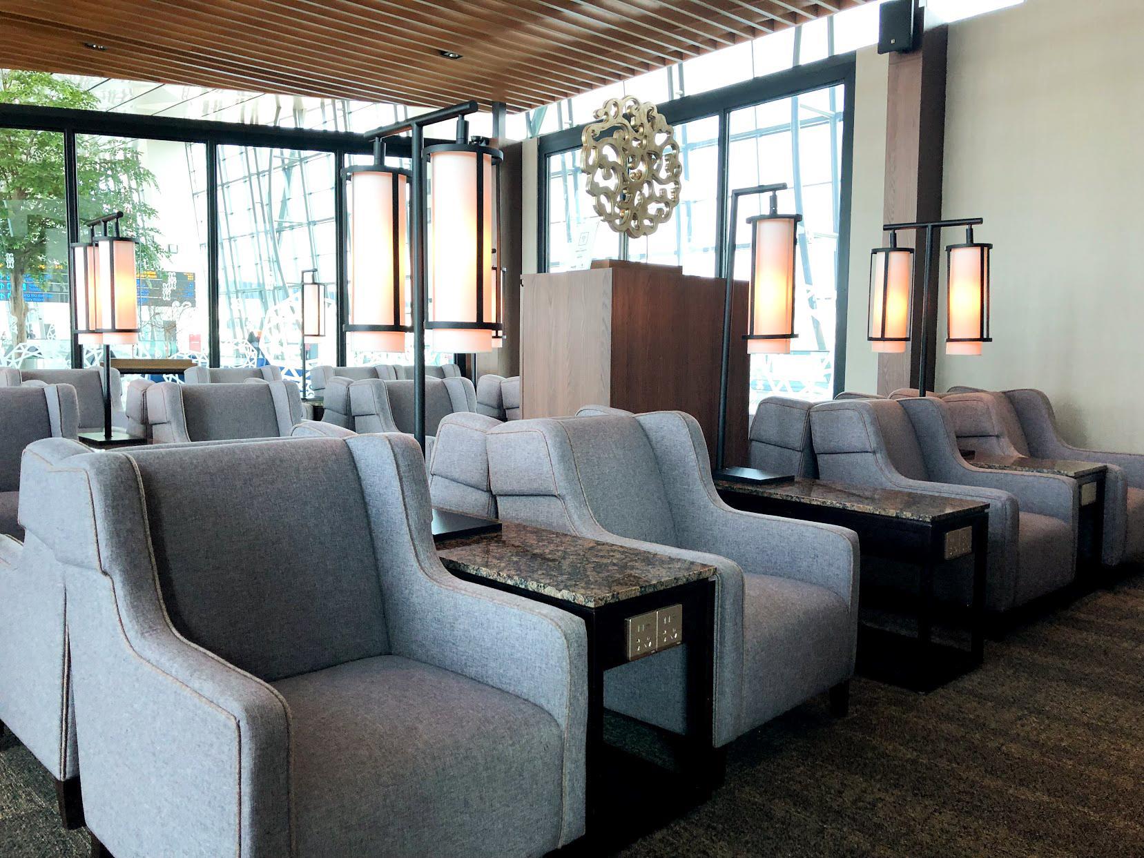 Plaza Premium Saphire Lounge Jakarta seating area