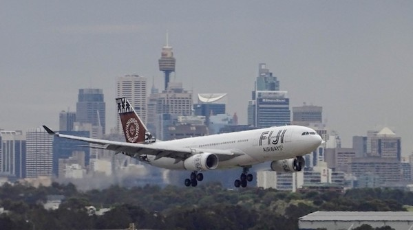 Fiji Airways plane flying