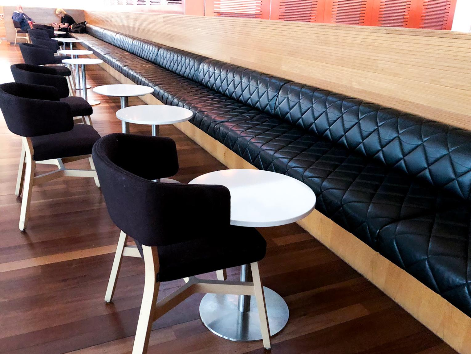 Qantas Club Sydney seating area