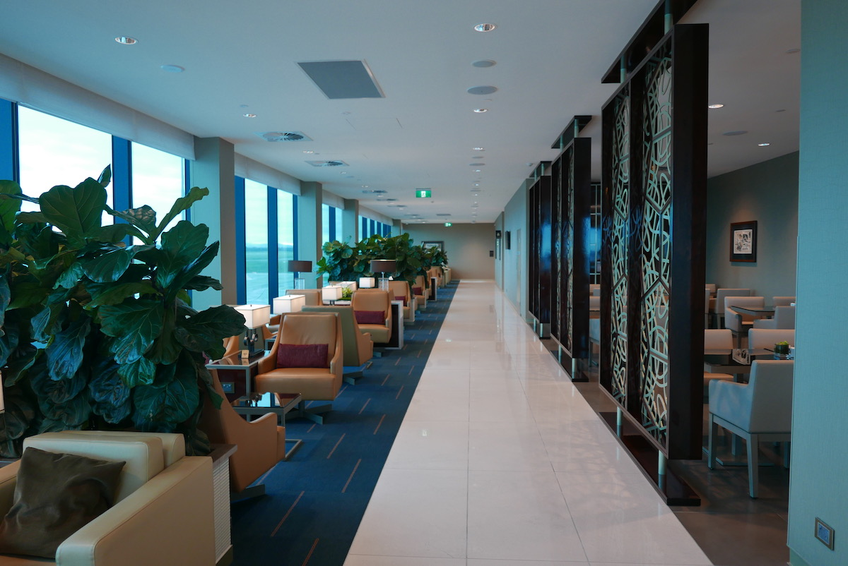 The Emirates Business & First Class Lounge Melbourne seating area