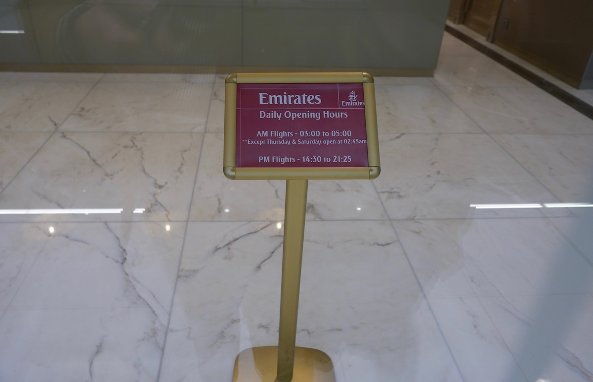 The Emirates Business & First Class Lounge Melbourne daily operating hours