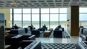 Qantas International First Lounge Melbourne overview