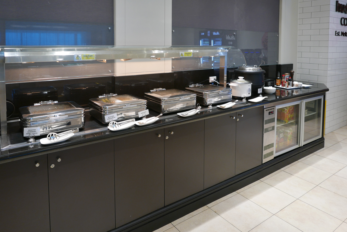 Marhaba Lounge Melbourne hot food counter