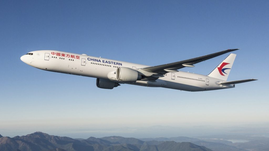 China Eastern plane in the air