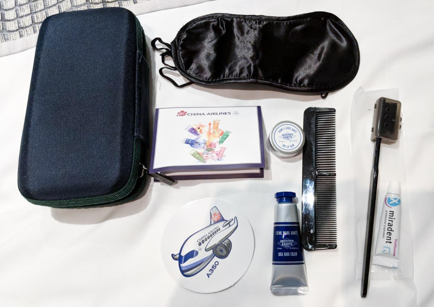 China Airlines A350 Premium Economy amenities