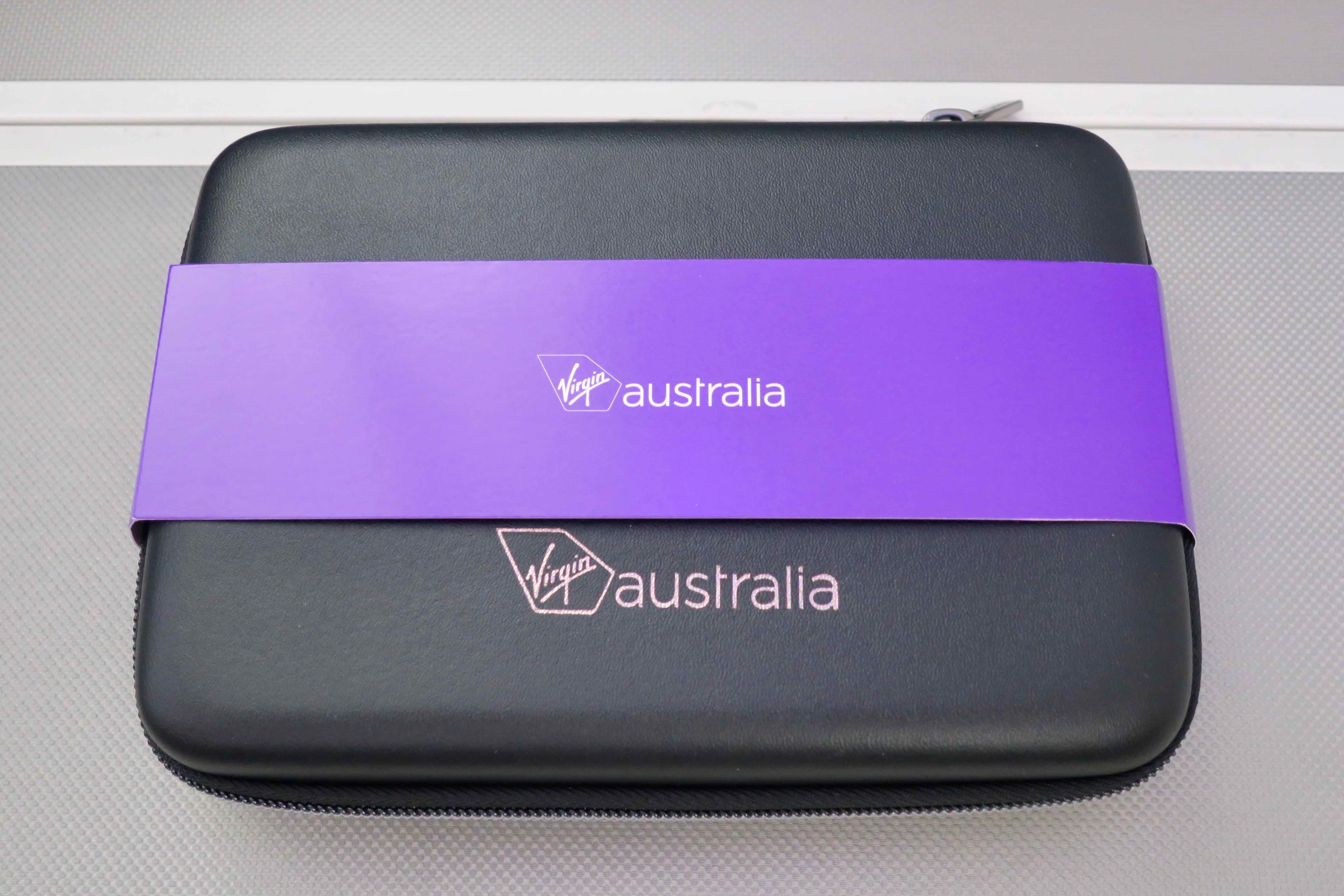 Virgin Australia A330 Business Class amenities kit