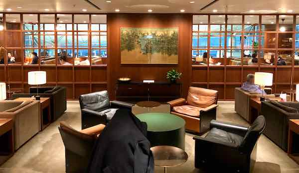 Cathay Pacific The Deck Business Class lounge Hong Kong