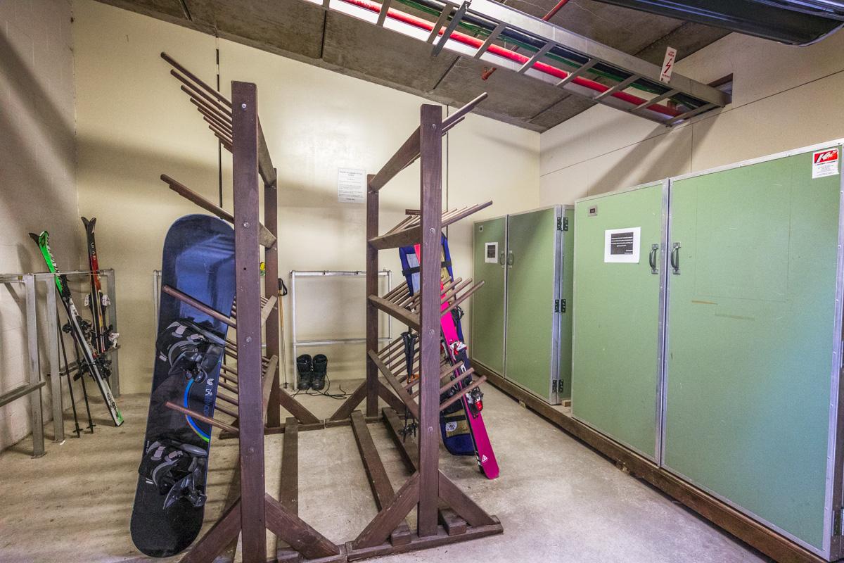 St. Moritz Queenstown ski storage room