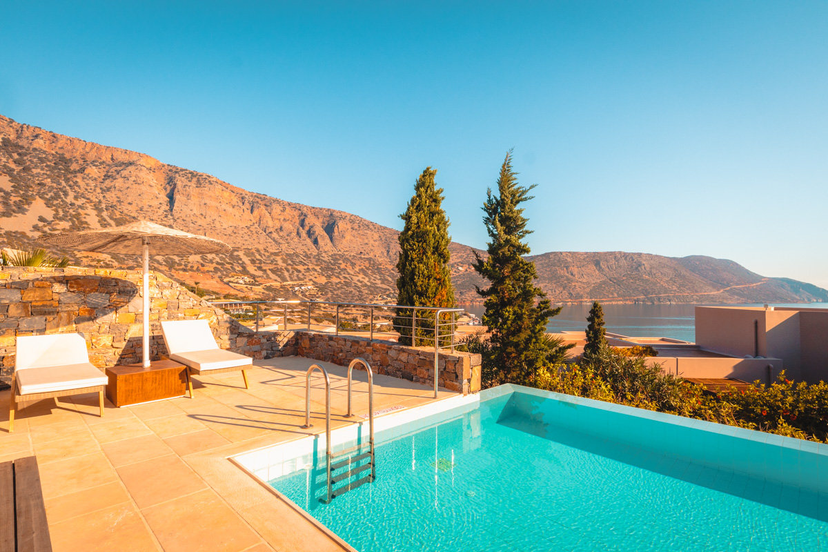 Blue Palace Crete Island Luxury Suite outdoor pool