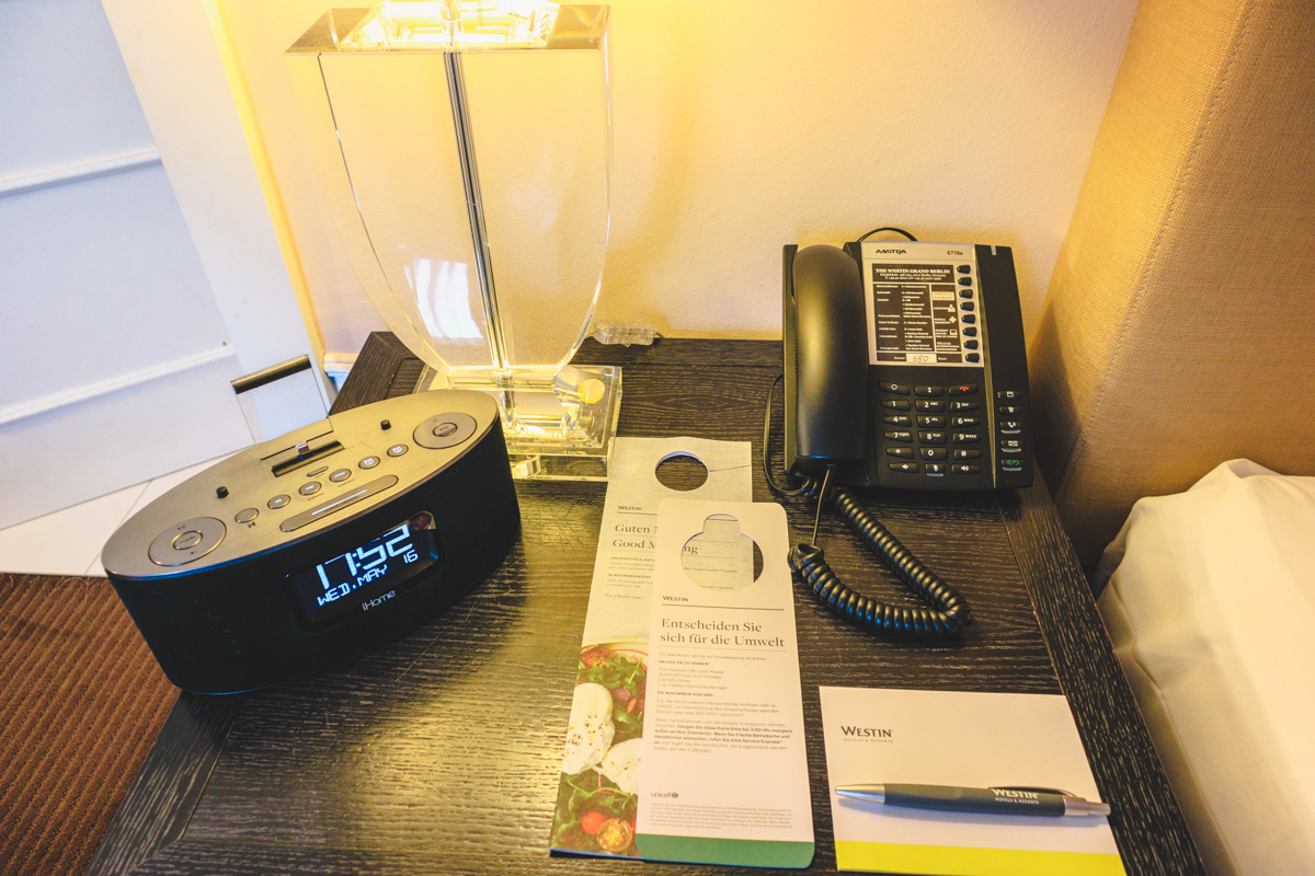 The Westin Berlin bedside table