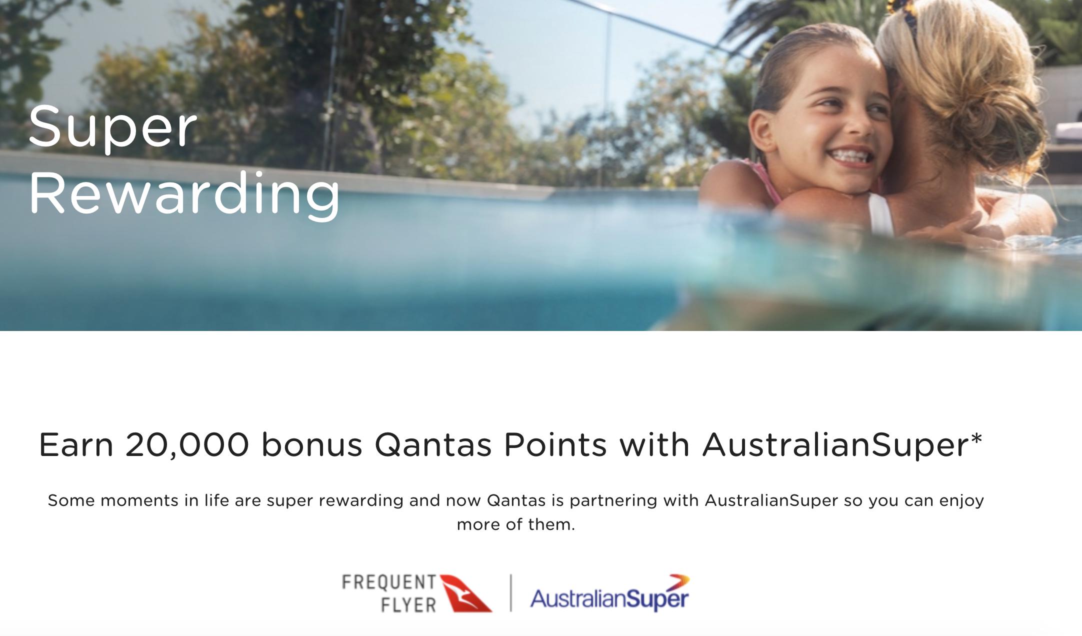 20,000 bonus Qantas Points with AustralianSuper