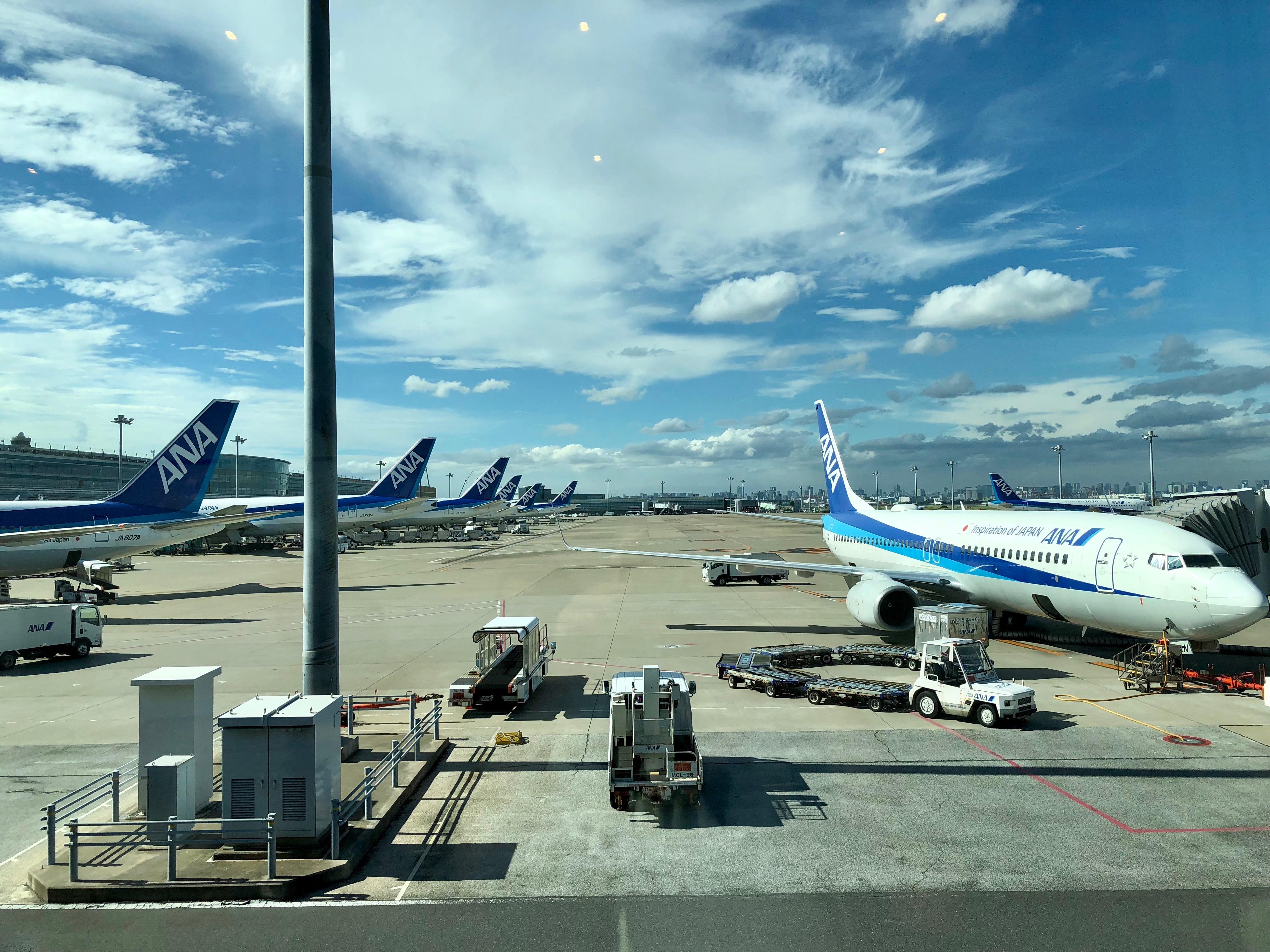 ANA planes Haneda Airport