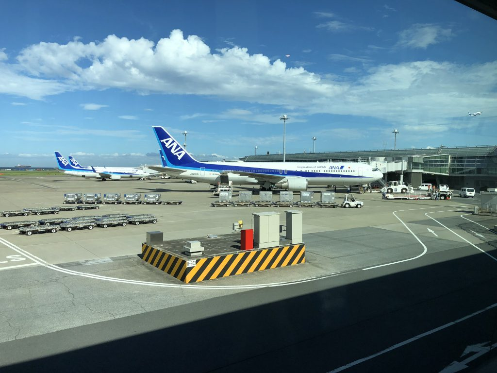ANA Airplanes on tarmac