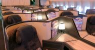 China Airlines 777-300ER Business Class cabin