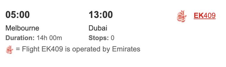 Emirates nonstop booking