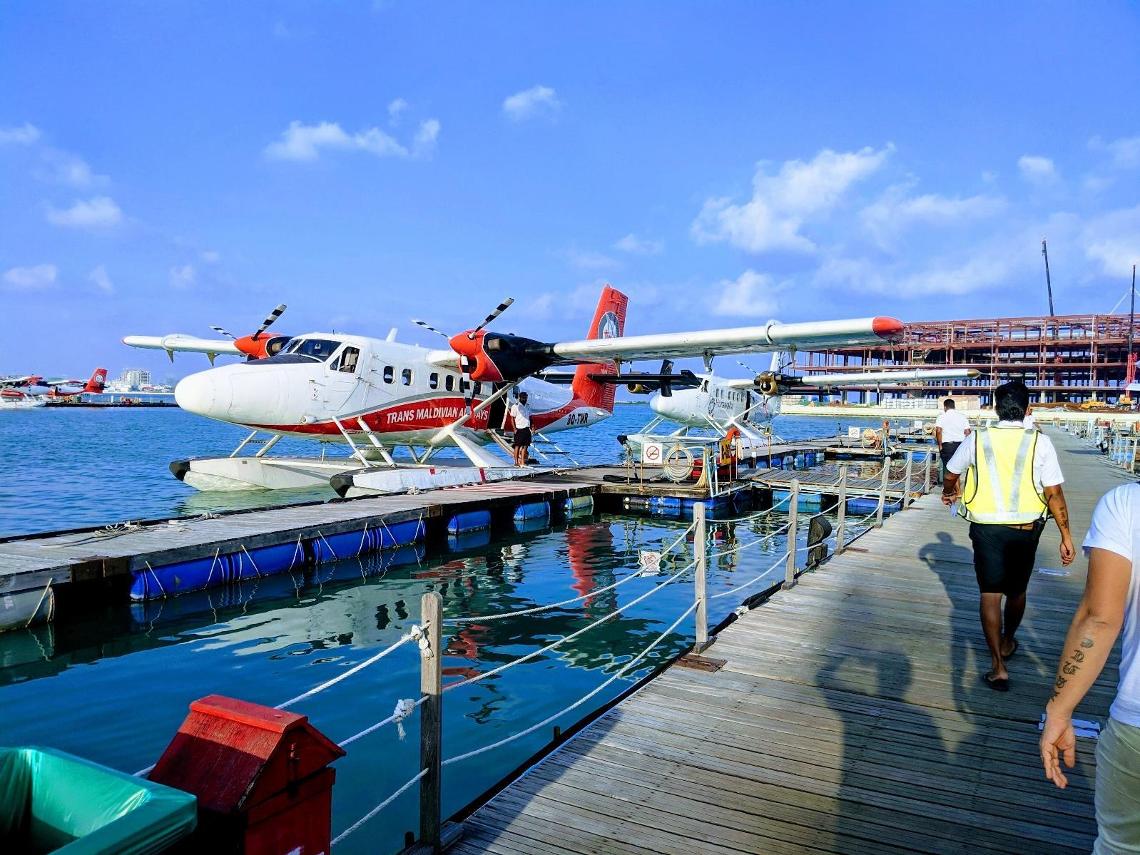 Seaplane going to The Conrad Maldives Rangali resort