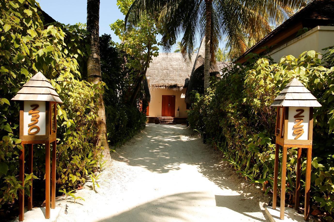 Conrad Rangali Maldives driveway to Beach Suite