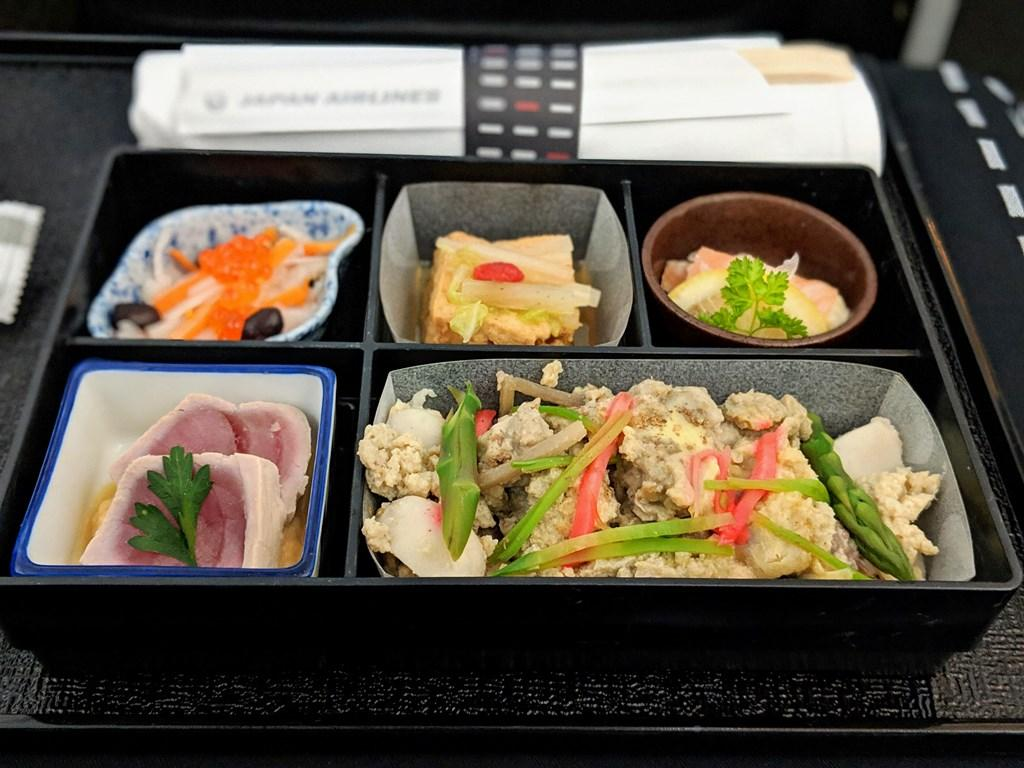 Japan Airlines 787 Business Class Irodori Gozen