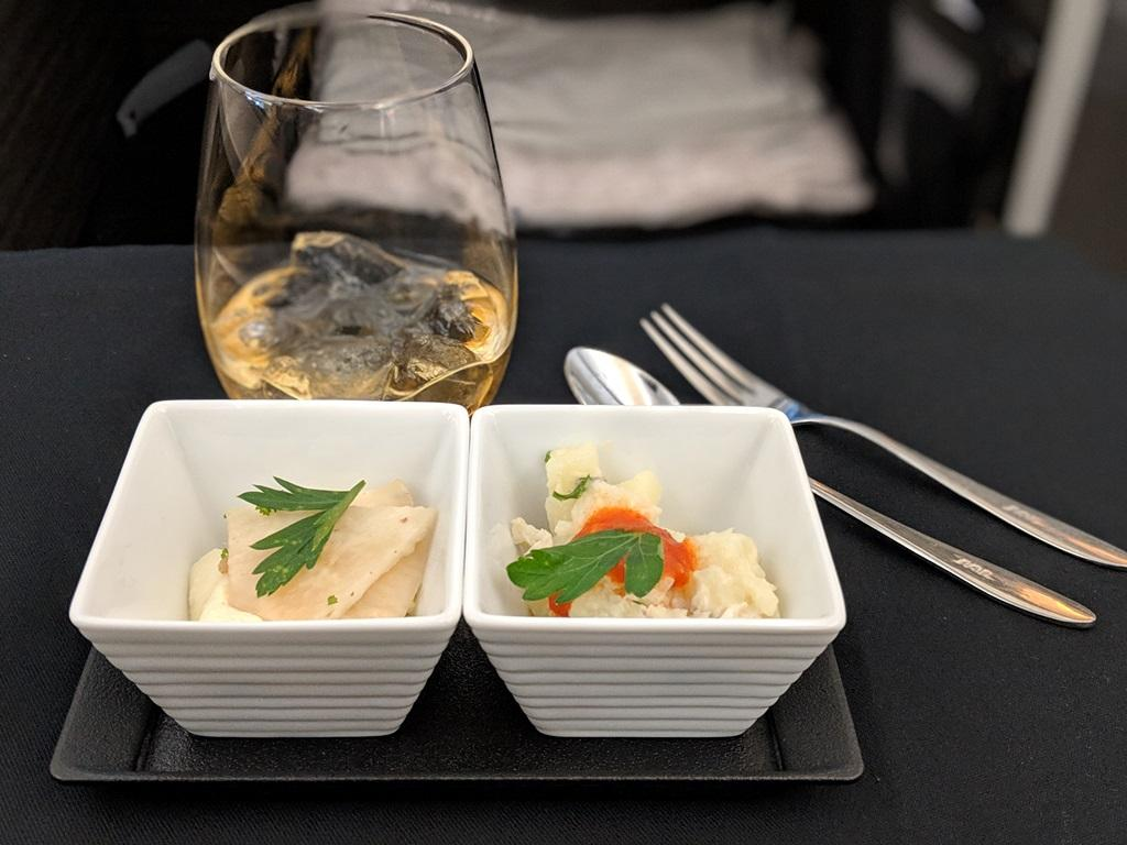 Japan Airlines 787 Business Class food