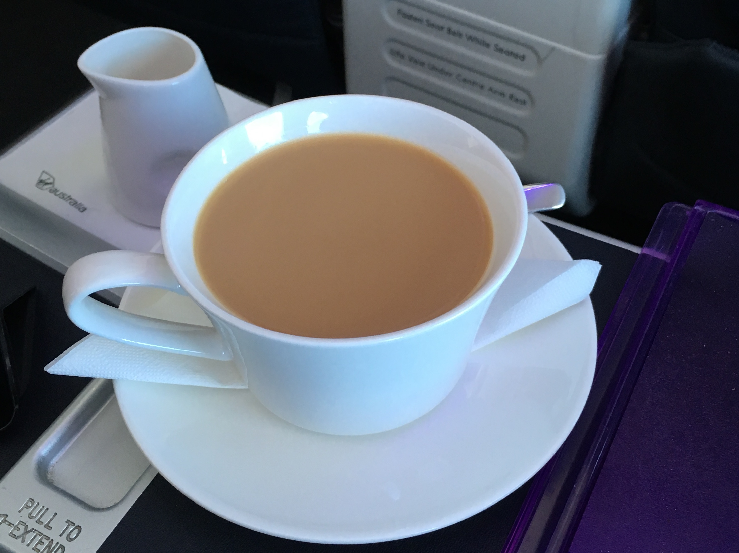 Virgin Australia Business Class coffee