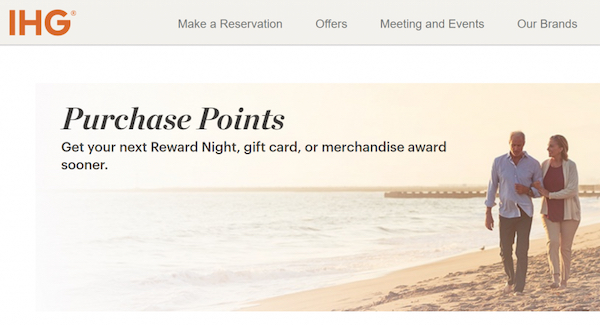 IHG buy points page