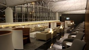 Cathay Pacific The Wing Business Class Lounge Hong Kong overview
