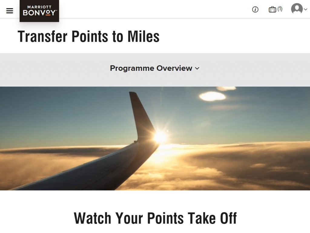 Marriott Bonvoy transfer to frequent flyer guide | Point Hacks