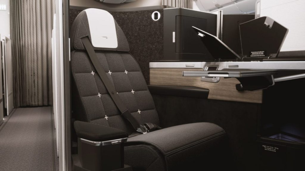 New British Airways Business Class product on the Airbus A350