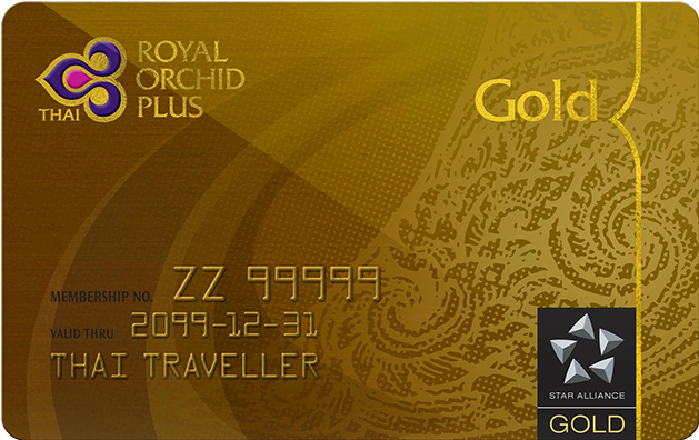 Thai Royal Orchid Gold card