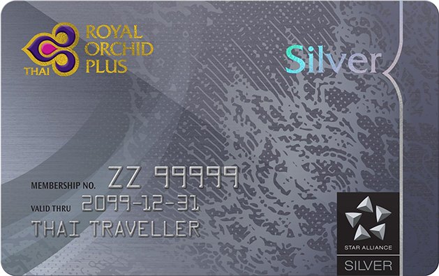 Thai Royal Orchid Silver card