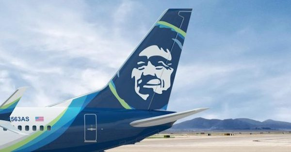 Alaska Airlines plane tail