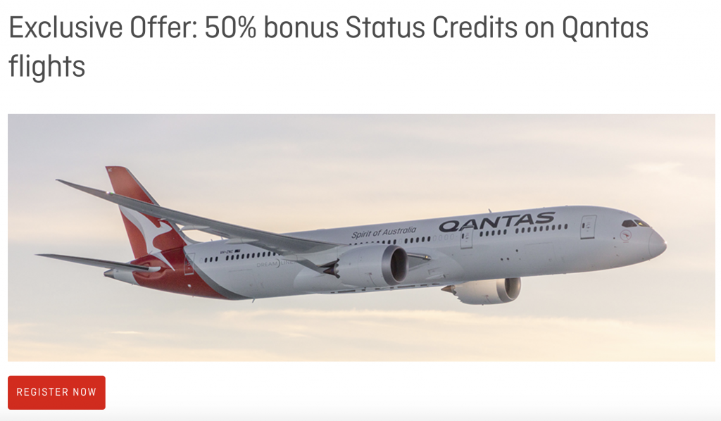 Qantas Business Rewards promo Apr-May 2019