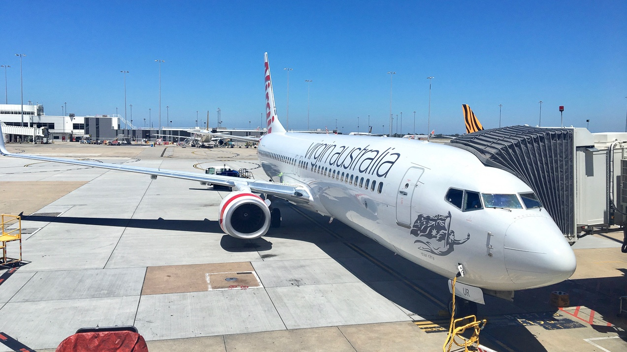 Virgin Australia Boeing 737 exterior photo on tarmac