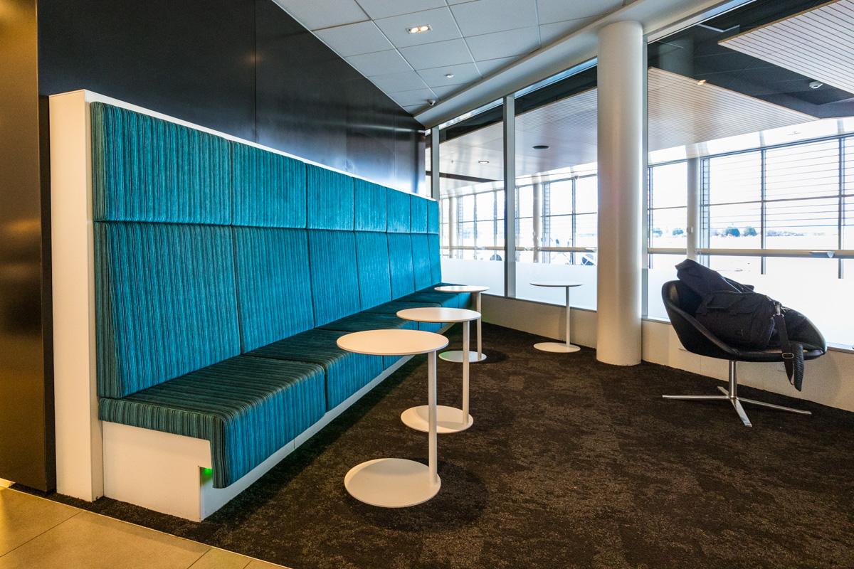 Air New Zealand Queenstown Lounge seats