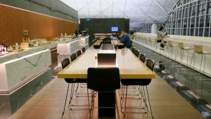 Cathay Pacific The Wing First Class Lounge overview