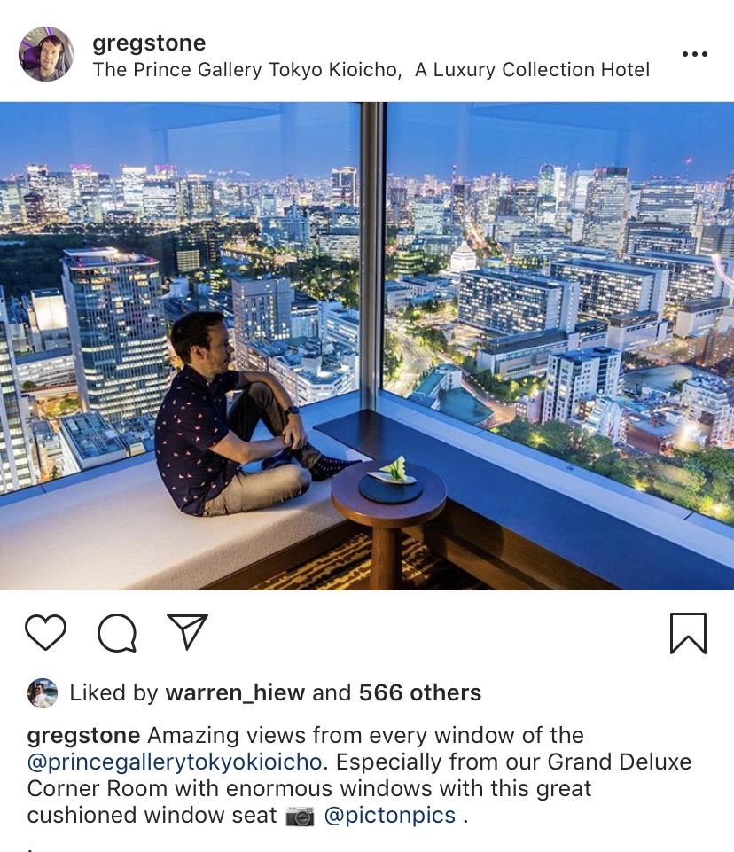 The Prince Tokyo Koicho Greg Stone instagram
