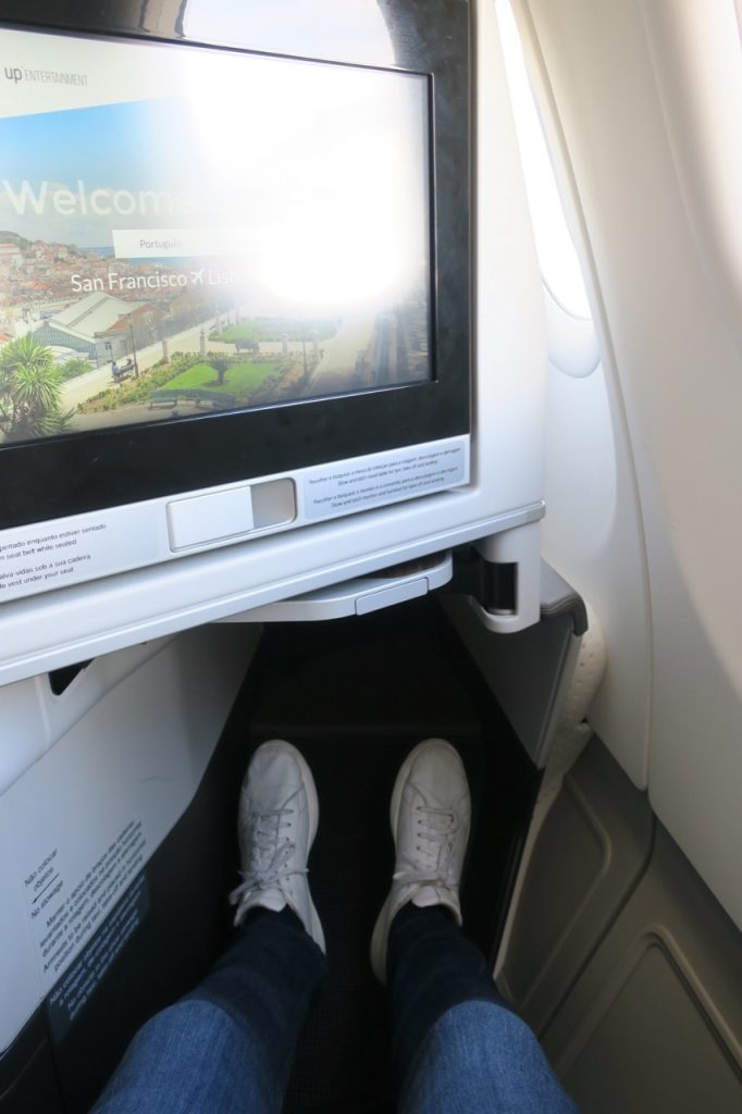 TAP Portugal A330neo Business Class legroom