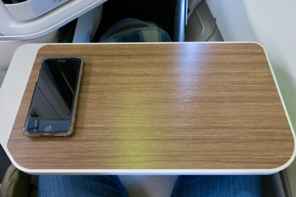TAP Portugal A330neo Business Class table