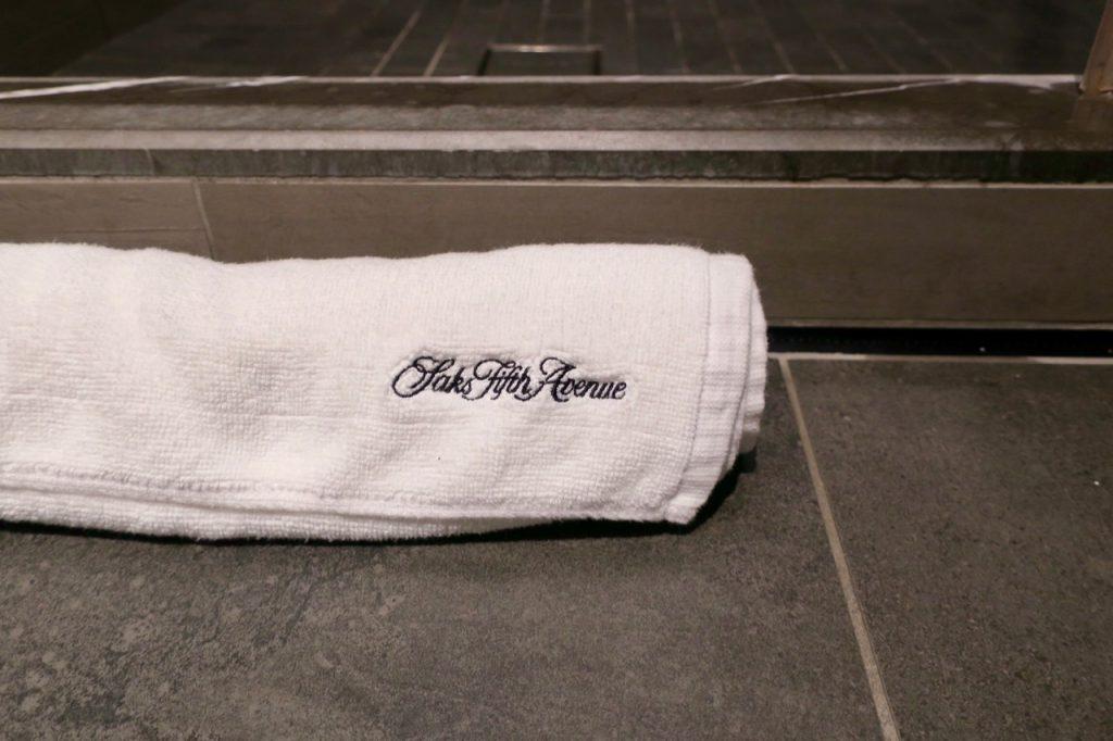 United Polaris Lounge SFO towel