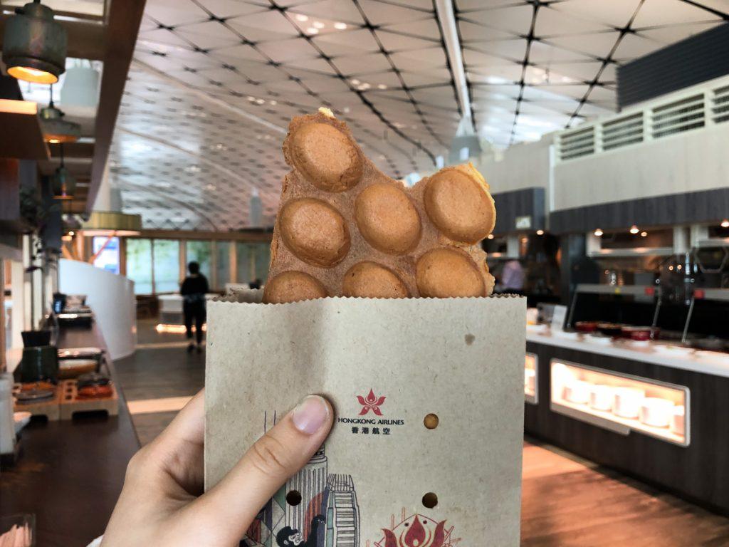 Club Autus Hong Kong Lounge egg puffs